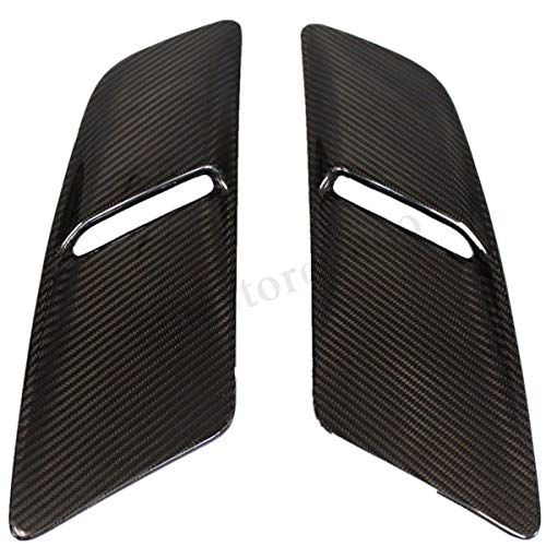 FidgetKute Real Glossy Carbon Fiber Engine Hood Vents Body Kit for Ford Mustang 2015-2017