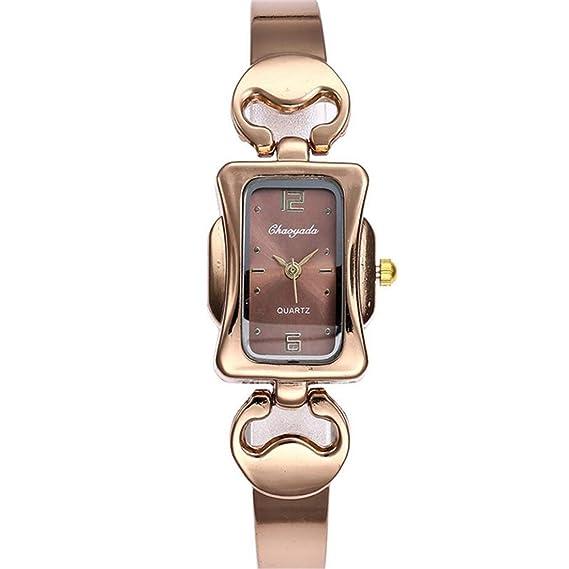 Moda Ultra Delgado Cuadrado Sra Aleación de Zinc Cuarzo Tipo de Pulsera Cinturón de Cadena Reloj