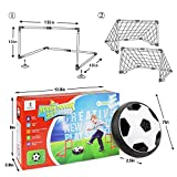 Betheaces Kids Toys, Soccer Goal Set Hover Football with 2 Gates,Toy for Boys/Girls Age of 2, 3, 4,5,6,7,8-16 Year Old, Children Gifts Sports Air Ball Indoor Outdoor Game with LED Lights