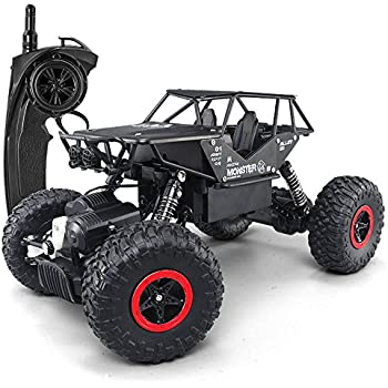 SZJJX RC Cars Off-Road Rock Crawler Truck Vehicle 2.4Ghz 4WD High Speed 1:14 Radio Remote Control Cars Electric Fast Racing Buggy Hobby Car Black