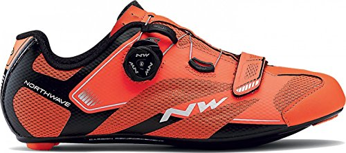 Northwave Scarpe Ciclismo Strada Uomo Sonic 2 Plus Arancio Aragosta/Nero