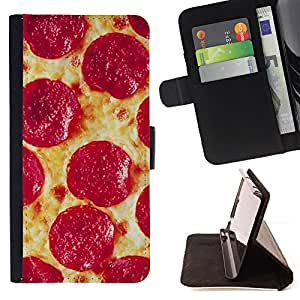 For Samsung Galaxy A5 A5000 A5009 Pizza Pepperoni Italian New York Food Style PU Leather Case Wallet Flip Stand Flap Closure Cover