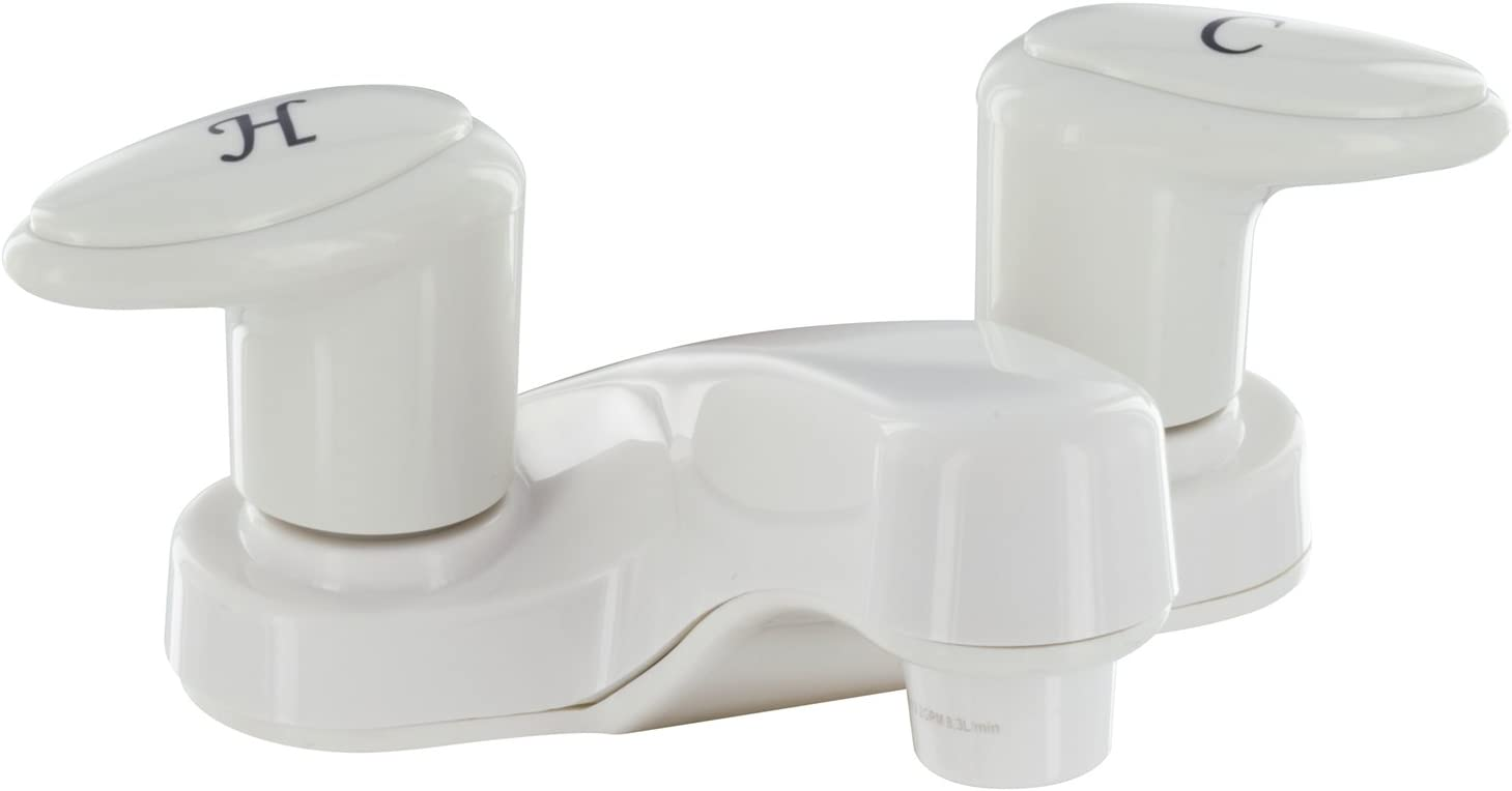 Valterra Phoenix PF222201 Catalina Two-Handle 4 Bathroom Faucet with 2 Spout-White