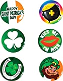 Set of 6 Saint Patrick's Day St Patty's Buttons
