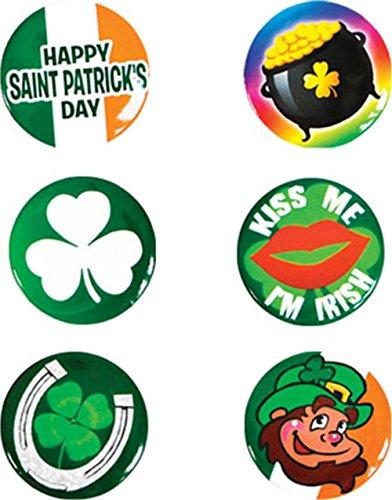 [Set of 6 Saint Patrick's Day St Patty's Buttons] (St Patrick The Saint Costume)