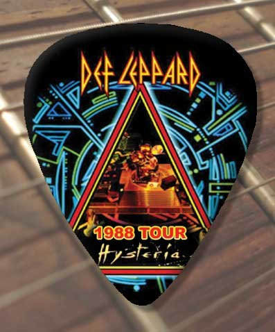 Def Leppard Hysteria 1988 Tour Premium Guitar Pick x 5 Medium Classic Rock Guitar 187