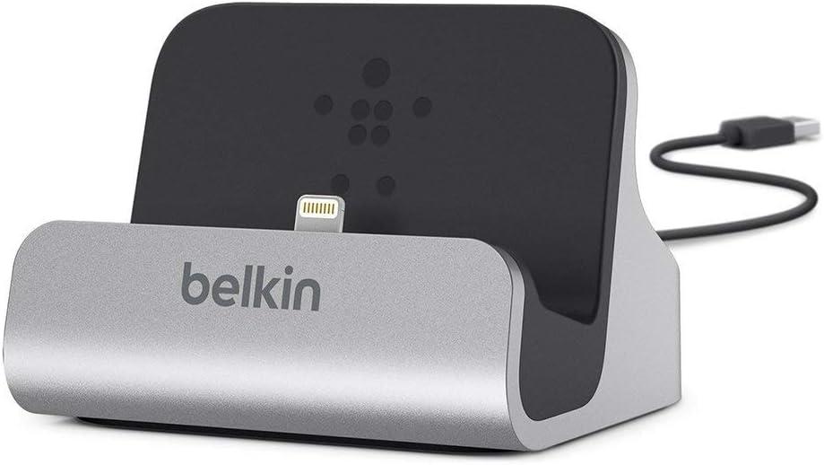 Belkin MIXIT - Base de carga y sincronización Lightning (estación de carga para iPhone XS, XS Max, XR, X, 8/8 Plus y otros)