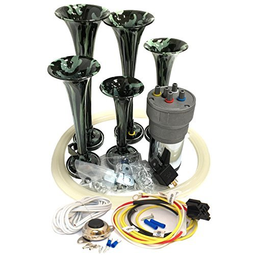 OEMLINK International LTD Dixie Air Horn Camouflage - Dixieland Premium Full 12 Note Version with Installation Wire Kit and Button by OEMLINK International LTD (Image #3)