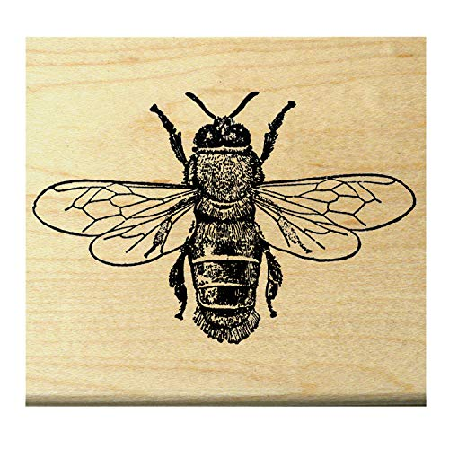 P22 Small Bee rubber stamp WM