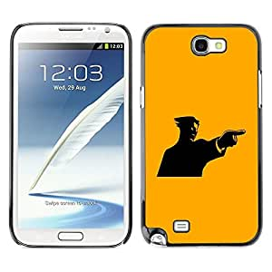 LECELL -- Funda protectora / Cubierta / Piel For Samsung Galaxy Note 2 N7100 -- Yellow Mad Guy --