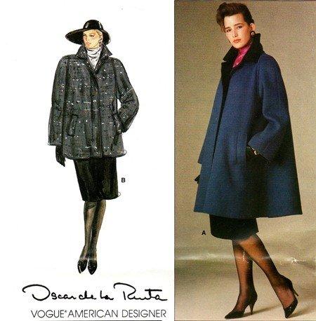 Vogue 1434 American Designer Oscar de la Renta Misses Coat Vintage Sewing Pattern Check Offers for ()