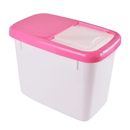 Hoomall 1 Box Large Plastic Rectangle Airtight Rice Flour Storage