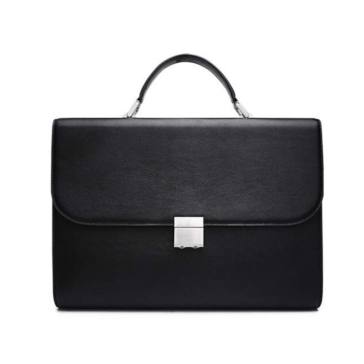 Briefcase Lawyer Computer Bag Black Size: 37627cm New Leather Mens Handbag With Anti-theft Password Lock