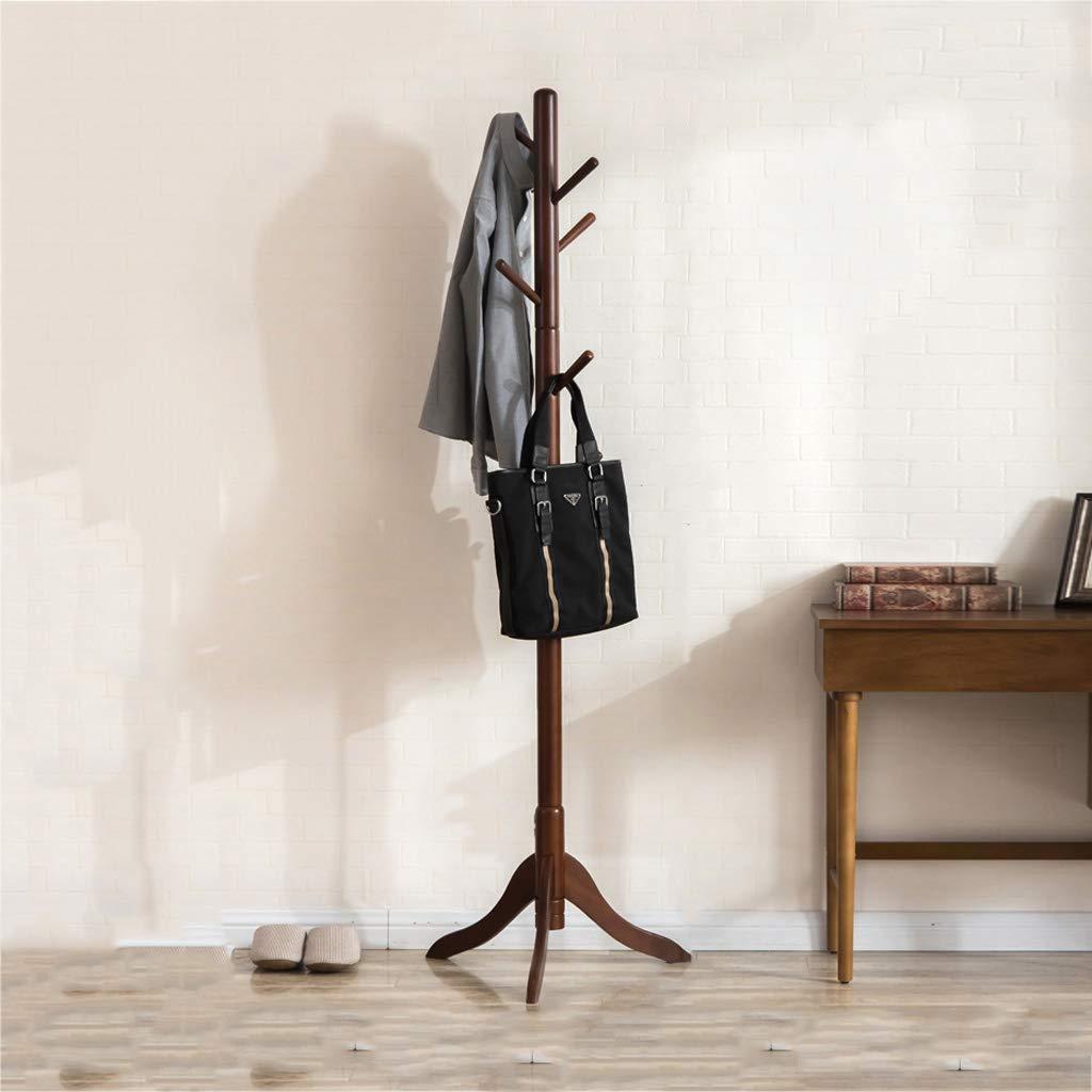 YYHSND Creative Bedroom Hanger Fashion Solid Wood Office Floor Stand Simple Home Floor Coat Rack 177x51cm Coat Rack