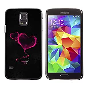 Be Good Phone Accessory // Dura Cáscara cubierta Protectora Caso Carcasa Funda de Protección para Samsung Galaxy S5 SM-G900 // Smoke Hearts Neon Pink Lamp Magucal Fairytale