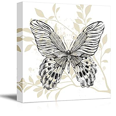 Made to Last, Delightful Creative Design, Square Butterfly Leaf Pattern