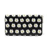 Daisy Passport Long Wallets Handbag Zip Around Real Leather Clutch Purse Bag