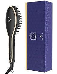 Hair Straightening Brush, USpicy Hair Straightener Brush...