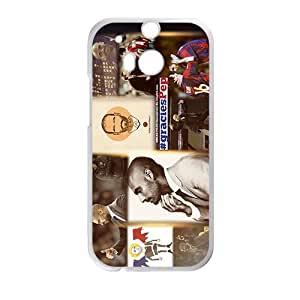 Cheerful Soccer Celebrity Lionel Messi White Phone Case for HTC One M8 by ruishername