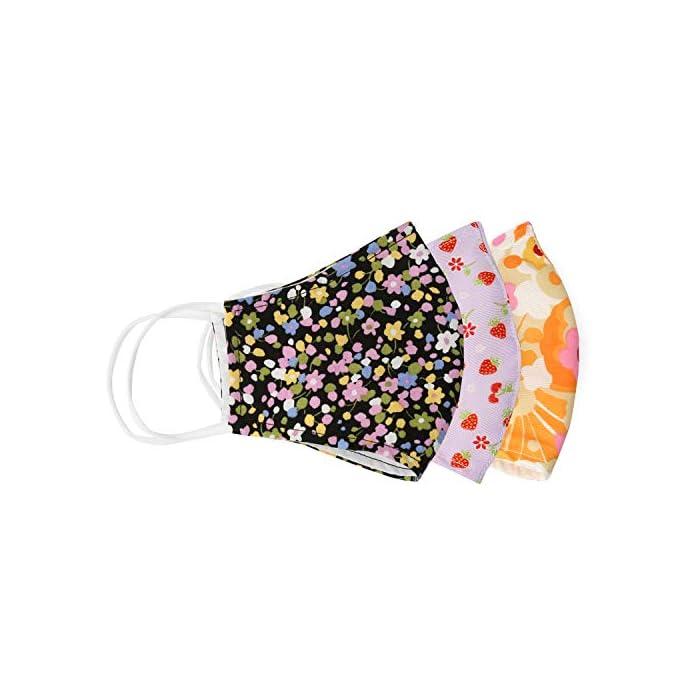 51Te0hnHtsL Ahorre 7,60 Euro al comprar 3 paquetes. Incluye bolsillo de doble capa para filtro opcional con sistema de inserción (filtro no incluido). La cubierta facial de la máscara de tela se puede usar sin filtro. Puede utilizar filtros desechables de filtro PM2.5 o de café de papel. Recomiendo reemplazar su filtro desechable con cada uso. 100% reutilizable lavable ligero rosa multicolor Seersucker a rayas algodón lavar en agua fría y colgar para secar. Nuestras máscaras de alta calidad están diseñadas para hacer sonreír a los que te rodean. Con múltiples colores y varios diseños, puedes encontrar un diseño que coincida con tu atuendo. Alambre de aluminio de puente nasal plegable: Las protecciones faciales tienen metal de puente nasal ajustable moldeable para que pueda evitar que el polvo pase y sus gafas no se empañarán.