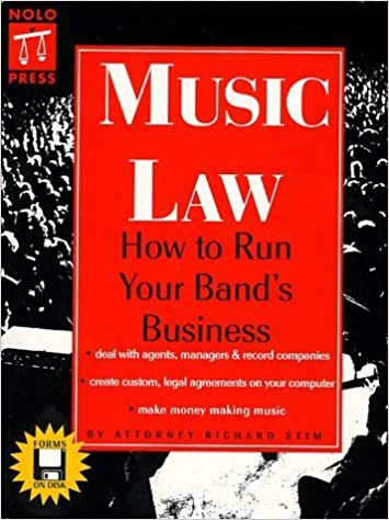 Book Music Law: How to Run Your Band's Business by Richard Stim (1998-08-01)