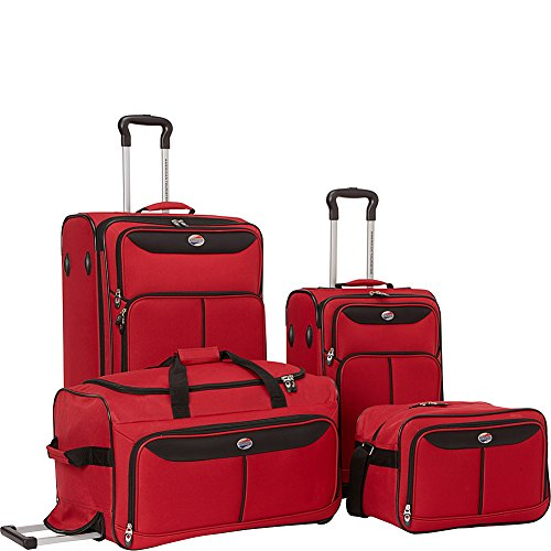 American Tourister Westerly 4 Piece Luggage Set (Merlot) (American Piece 3 Tourister)