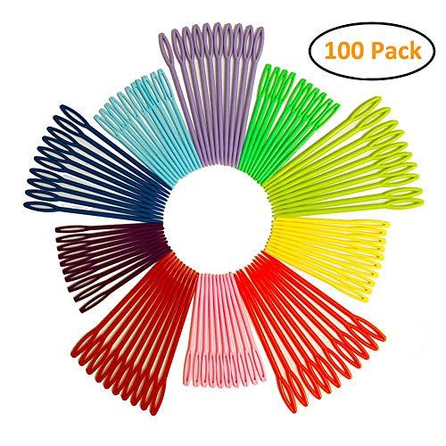 100 Pcs Plastic Sewing Needles, iFergoo 50 Pcs 3.5