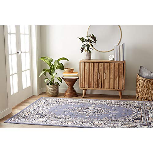 Home Dynamix Premium Sakarya Traditional Area Rug, Oriental Country Blue/Rust 5'2