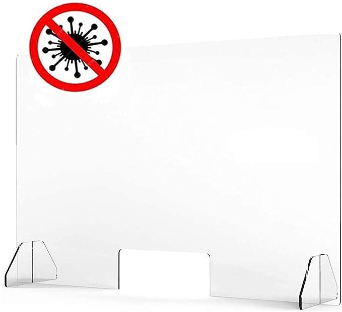 KDJJH Mampara de Protección, Acrílico Protección para mostrador Mampara Mostrador Transparente Mampara de Seguridad Mampara Pantalla Proteccion para Oficina, Bar, Cafetería,60x60cm: Amazon.es: Hogar