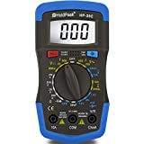 HOLDPEAK 36C Manual-Ranging Digital Multimeter, Volt Amp Ohm Capacitance Test Meter Multi Tester with Diode hFE Test, Blue