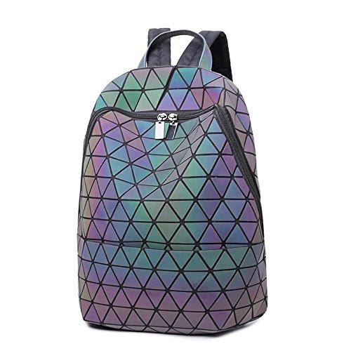 2018 Sac à Femmes sacs à lumineux VHVCX géométrique Mochila à Femme Bao Girl Sac Sac Mode dos dos Diamant School dos à dos TTxz4vY
