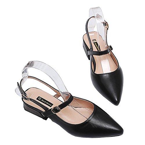 25c409484a Envio gratis Boca áspera de verano de 4 cm negra con zapatos de tacón