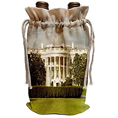 3dRose Danita Delimont - Washington DC - USA, Washington DC, White House, US Presidential home - US09 LFO0158 - Lee Foster - Wine Bag (wbg_143511)
