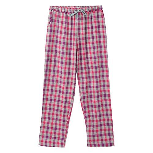 Los 100 Pantalones Usar Puede Con A Fuera Cuadros Se Tejido Casa Sueltos L Primavera Pijamas Baujuxing De Algodón wqZ4dn