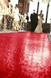 ShinyBeauty Aisle Runner-30FTX4FT-Red,Aisle Runner 30ft,Carpet Aisle Runner,Sequins Fabric,Handmade Aisle Runner