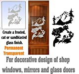gun cabinet with etched glass - Bear Mountain's DIY Etched Glass Vinyl Gun Cabinet Window Front Door GC05B