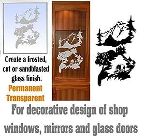 Bear Mountain's DIY Etched Glass Vinyl Gun Cabinet Window Front Door GC05B