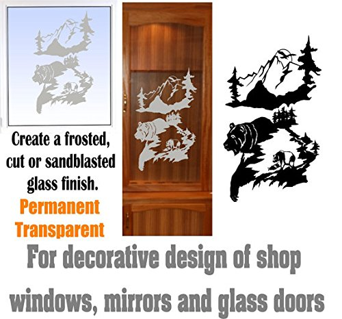gun cabinet with etched glass - 9