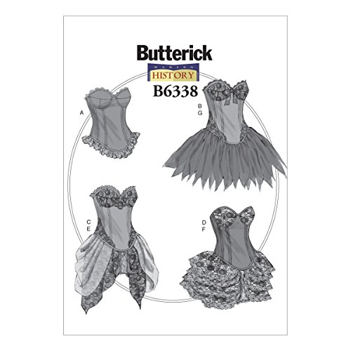 Detail Underwire (Butterick Patterns B6338 Curved-Hem Corsets & Skirts, E5 (14-16-18-20-22))