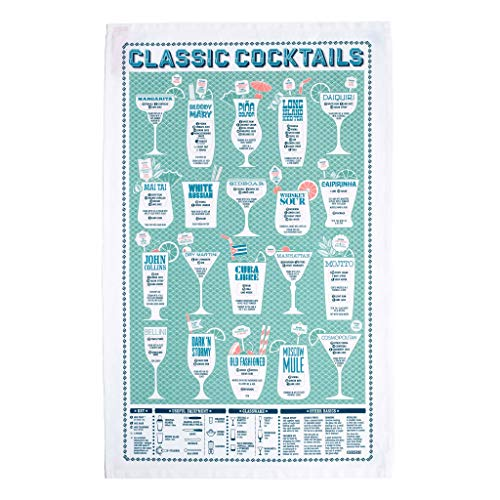 (Stuart Gardiner Design Classic Cocktails Bar Towel)