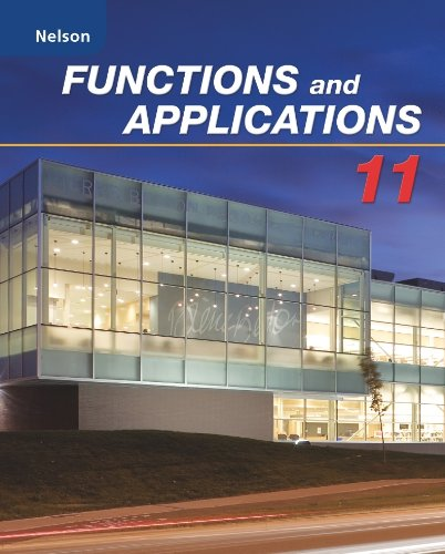 Functions and Applications 11: Nelson: 9780176332044: Amazon com: Books