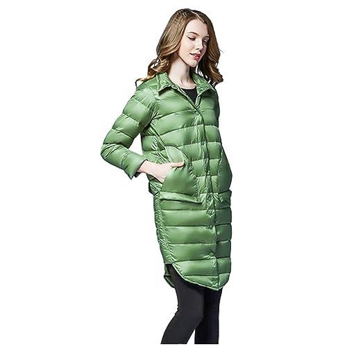 Ruiren Chaqueta Fina de Bolsillo de Moda para Mujer, para Mantener el Calor