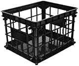 Storex Standard Crate, Letter/Legal, Black