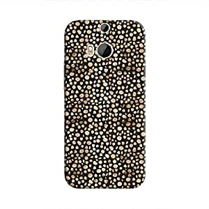 Cover It Up - Brown Black Pebbles Mosaic One M8 Hard Case