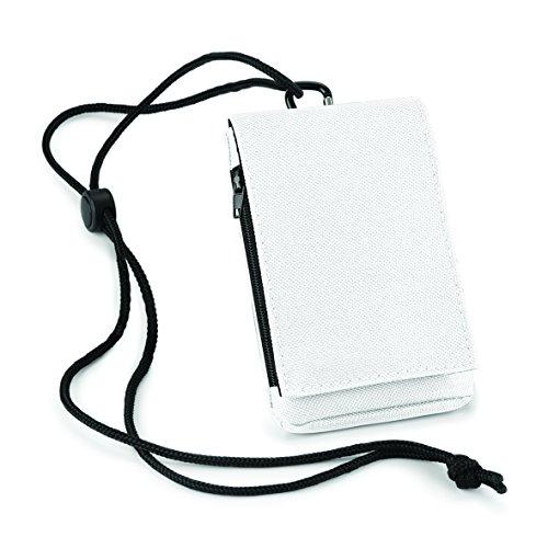 Bolso de hombro para móvil con bolsas de cartera de viaje cierre de velcro en negro blanco