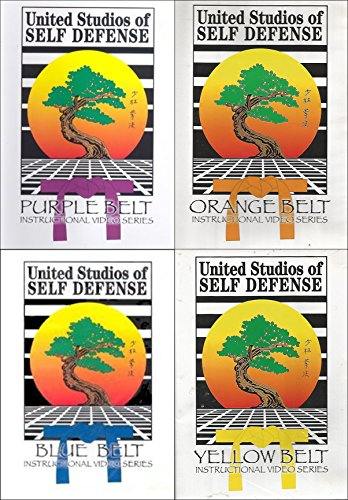 United Studios Self Defense Karate Instructional Video Series 4-DVD Bundle (Purple, Yellow, Blue and Orange Belt) (Not Enter Belt Yellow)