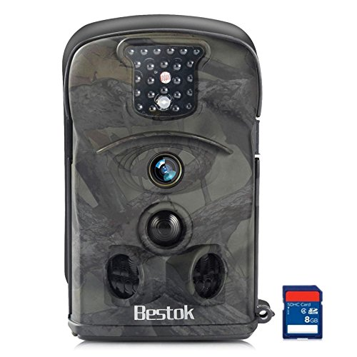 Bestok Trail Camera 120 HD 12MP Hunting Camera with Night Vision 65ft 2.4 LCD Wildlife Game Camera with 8G SD Card