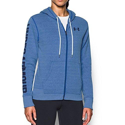 Cotton Stretch Zip Hoodie - Under Armour Women's Favorite Fleece Full Zip Hoodie,Lapis Blue (984)/Midnight Navy, Medium