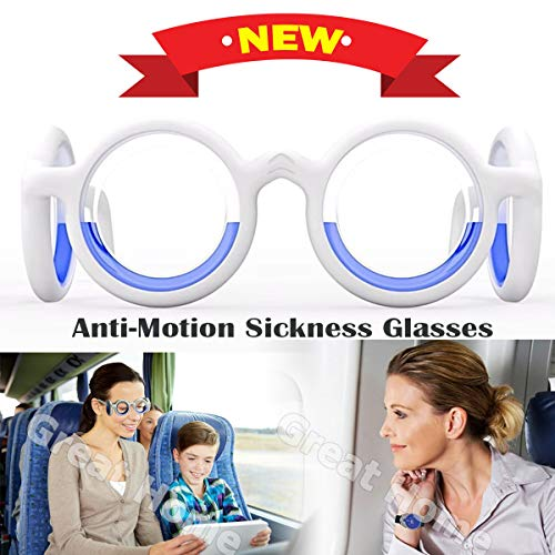 Anti Motion Sickness Seasickness Halo Aircraft Glasses Ultra-Light Foldable Portable Relieve Glasses Adsorption Fruity Fragrance for Adults or Kids Travel Plane Car Boat Pregnancy Safe(Shipping By FBA (Best Otc For Seasickness)