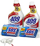 Formula 409 Formula 409 Multi-Surface Cleaner Spray and s.o.s All Surface Scrubber Sponge Value Pack